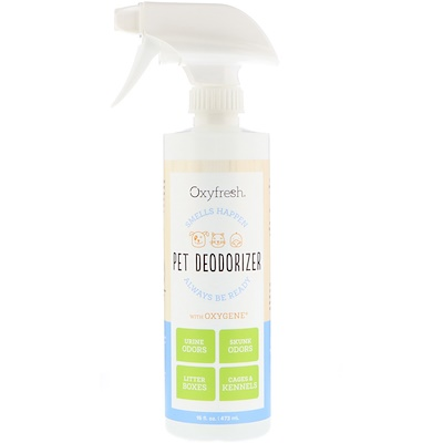 Oxyfresh Pet Deodorizer, Smells Happen Always Be Ready, 16 fl oz (473 ml)