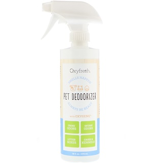 Oxyfresh, Pet Deodorizer, Smells Happen Always Be Ready, 16 fl oz (473 ml)