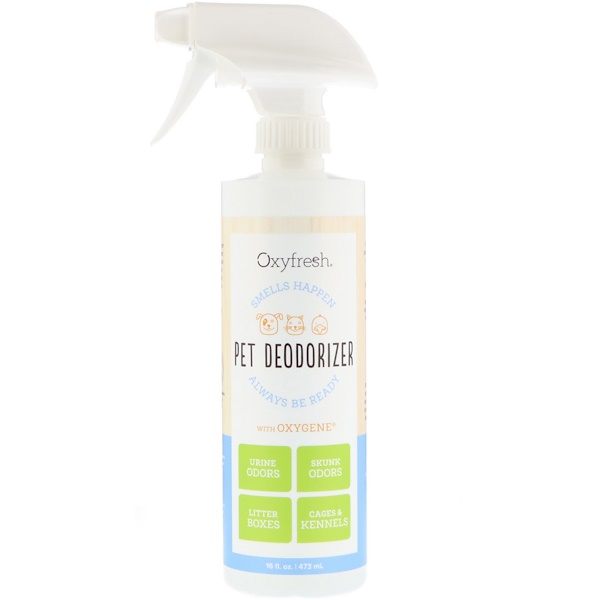 Oxyfresh, Pet Deodorizer, Smells Happen Always Be Ready, 16 fl oz (473 ml) (Discontinued Item)