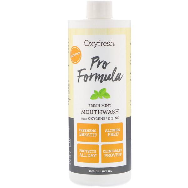 Oxyfresh, Pro Formula, Fresh Mint Mouthwash with Oxygene & Zinc, 16 fl oz (473 ml)