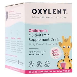 Виталах, Children's Oxylent, Multivitamin Supplement Drink, Bubbly Berry Punch Flavor, 30 Packets, 0.15 oz (4.5 g) Each отзывы