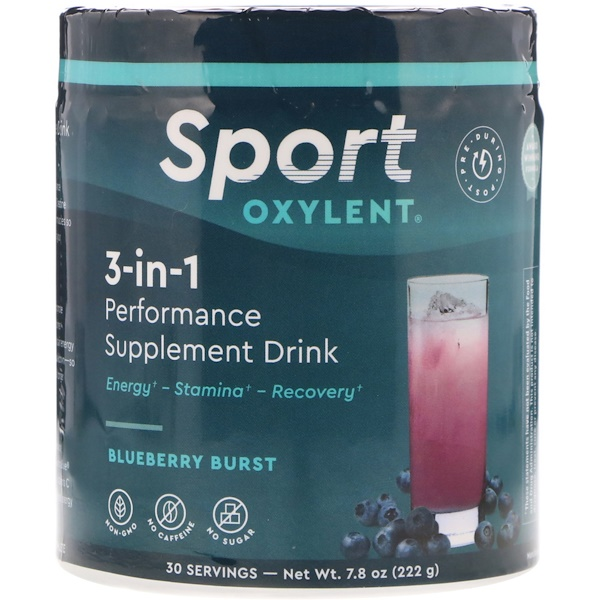 Vitalah, 3-in-1 Performance Supplement Drink, Blueberry Burst, 7.8 oz (222 g) (Discontinued Item)