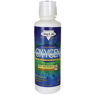 OxyLife, Stabilized Oxygen, With Colloidal Silver and Aloe Vera, 16 oz (473 ml)