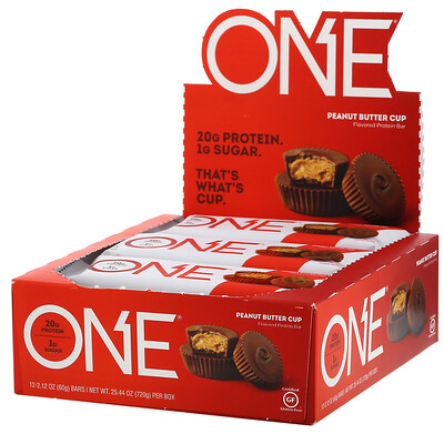 Купить One Brands ONE Bar, Peanut Butter Cup, 12 Bars, 2.12 oz (60 g) Each