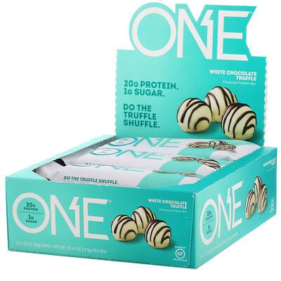 Купить One Brands ONE Bar, White Chocolate Truffle, 12 Bars, 2.12 oz (60 g) Each