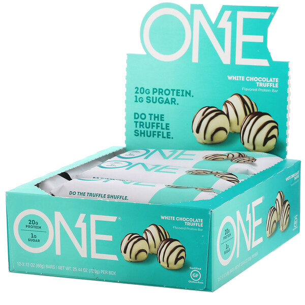 ONE Bar, White Chocolate Truffle, 12 Bars, 2.12 oz (60 g) Each
