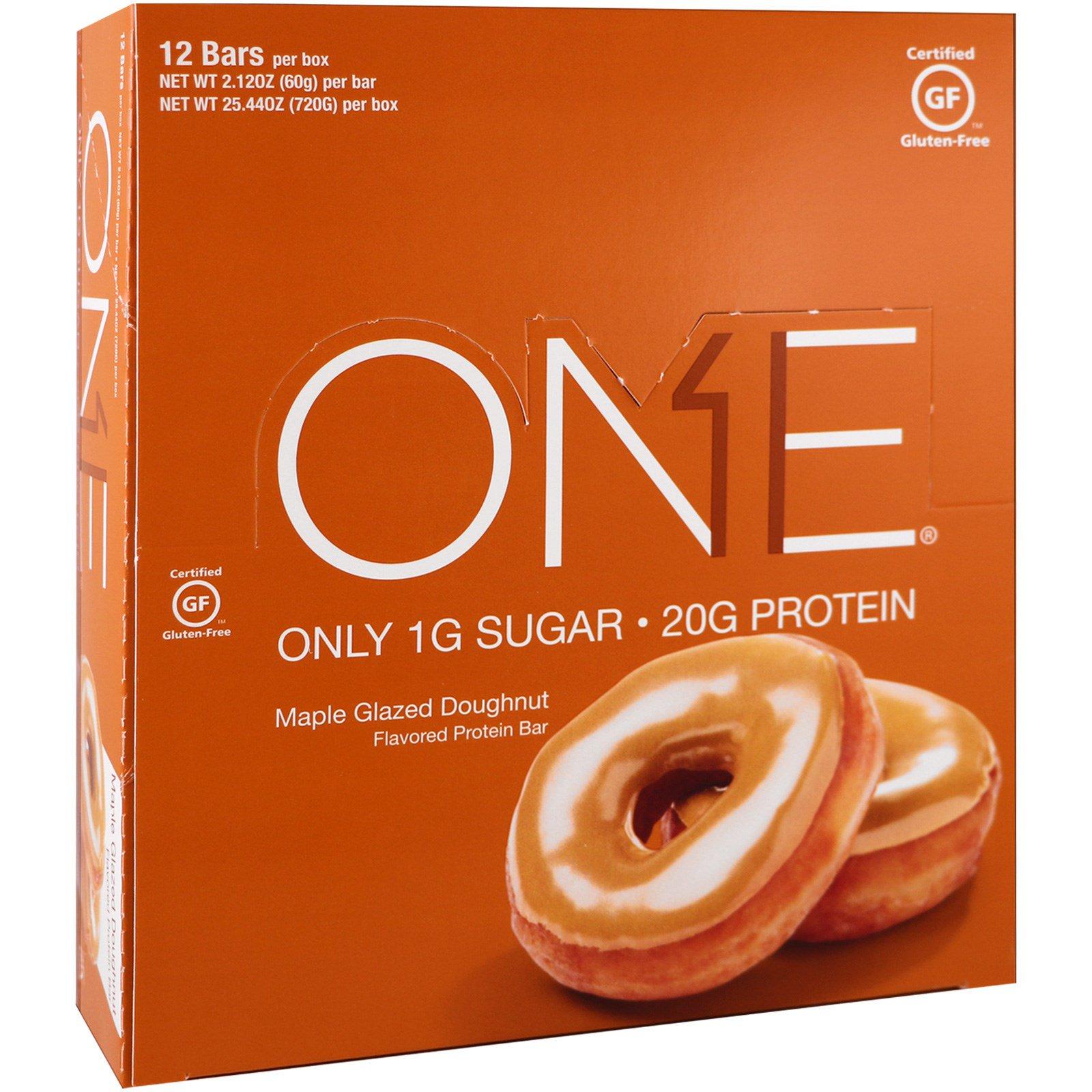 Oh Yeah!, Батончик One, пончик с кленовой глазурью, 12 батончиков, по 60 г (2,1 унц) каждый