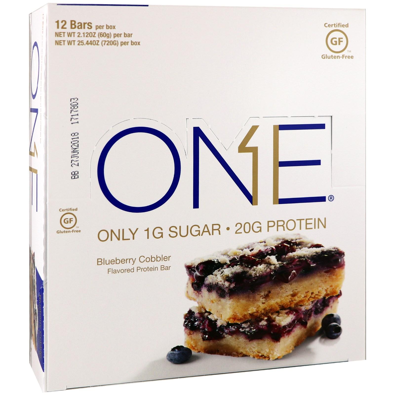 Oh Yeah!, One Bar, фруктовый пирог с голубикой, 12 батончиков, 60 г (2,12 унций) каждый