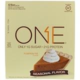 Отзывы о One Brands, Батончик One, со вкусом тыквенного пирога, 12 батончиков, 2,12 унц. (60 г) каждый