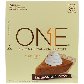 Oh Yeah!, One Bar, Pumpkin Pie Flavor, 12 Bars, 2.12 oz (60 g) Each
