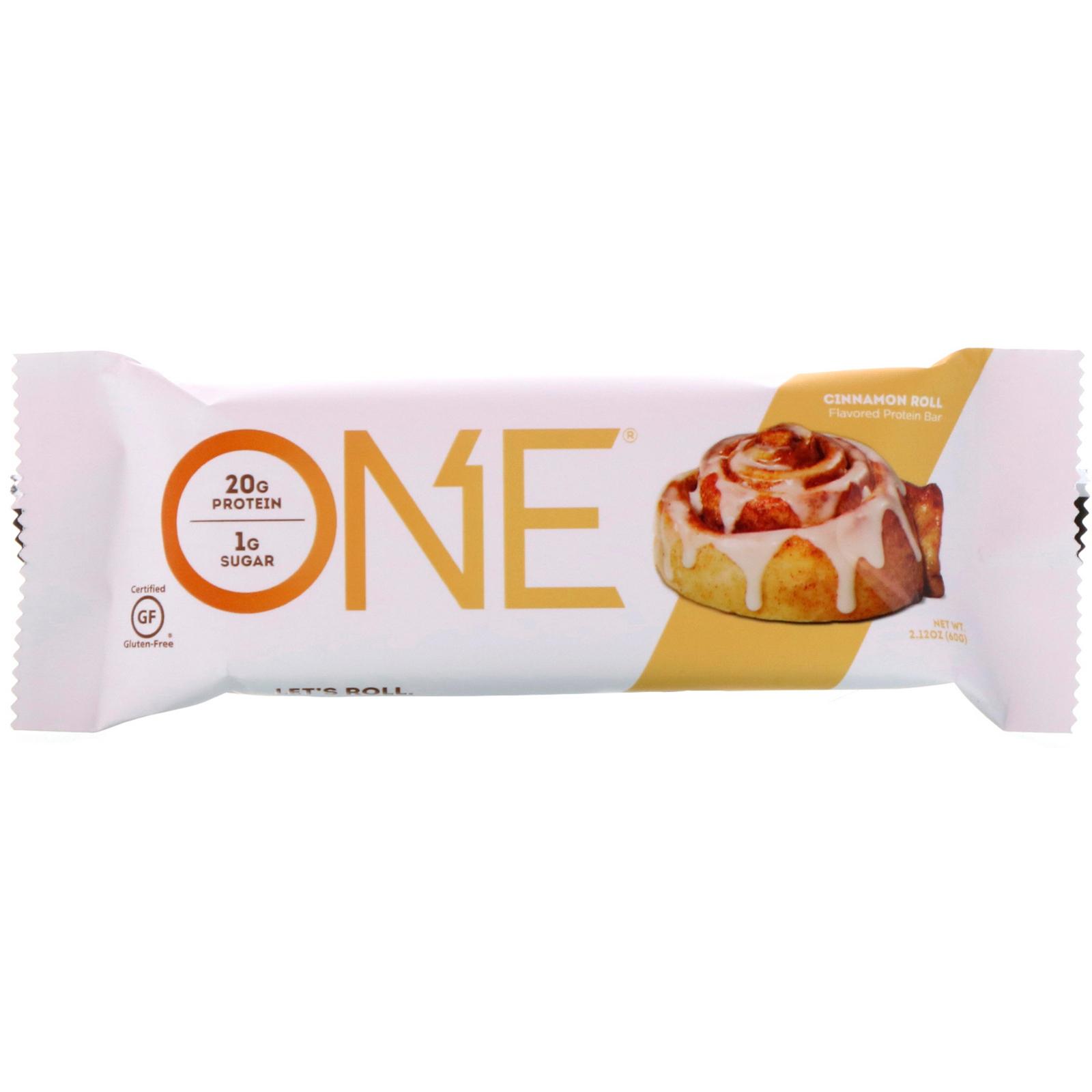 One Brands Bar Cinnamon Roll 12 Bars 212 Oz 60 G Each