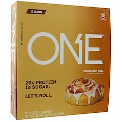 Oh Yeah!, One Bar, Cinnamon Roll, 12 Bars, 2.12 oz (60 g) Each
