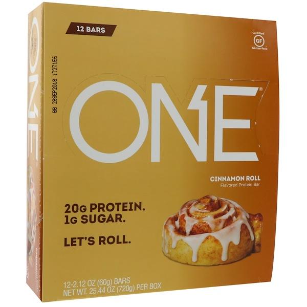 Oh Yeah!, One Bar, Cinnamon Roll, 12 Bars, 2.12 oz (60 g) Each