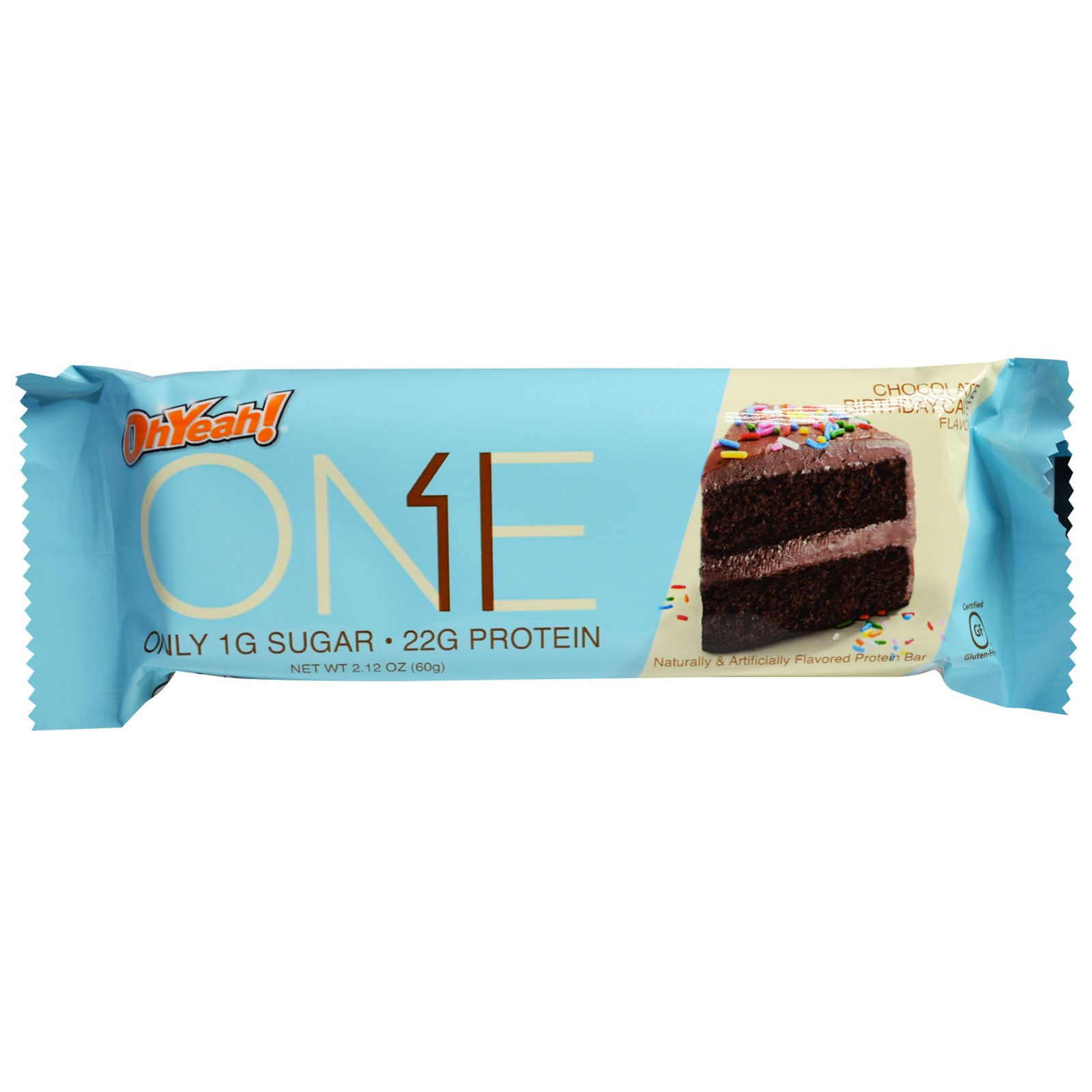 Oh Yeah One Bar Chocolate Birthday Cake 12 Bars 212 Oz 60 G Each Discontinued Item