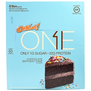 О Е, One Bar, Chocolate Birthday Cake, 12 Bars, 2.12 oz (60 g) Each отзывы