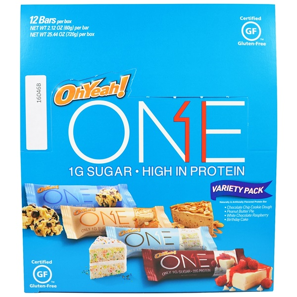 One Brands, ONE, Variety Pack Protein Bars, 12 Bars, 2.12 oz (60 g) Each (Discontinued Item)