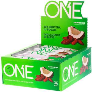 О Е, ONE Bar, Almond Bliss, 12 Bars, 2.12 oz (60 g) Each отзывы покупателей