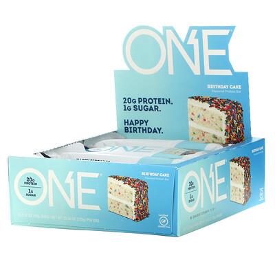 Купить One Brands ONE Bar, Birthday Cake, 12 Bars, 2.12 oz (60 g) Each