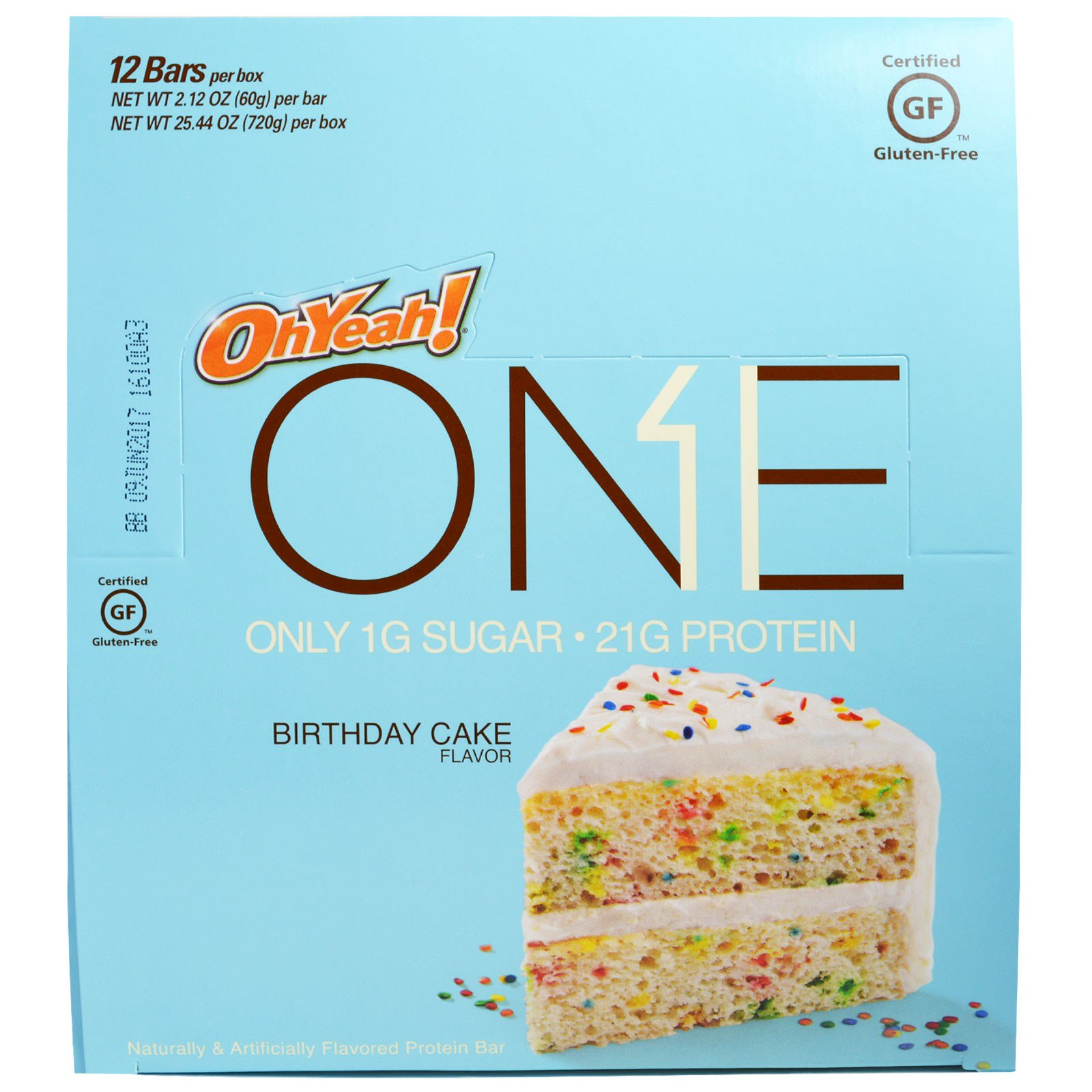 Oh Yeah One Bar Birthday Cake 12 Bars 212 Oz