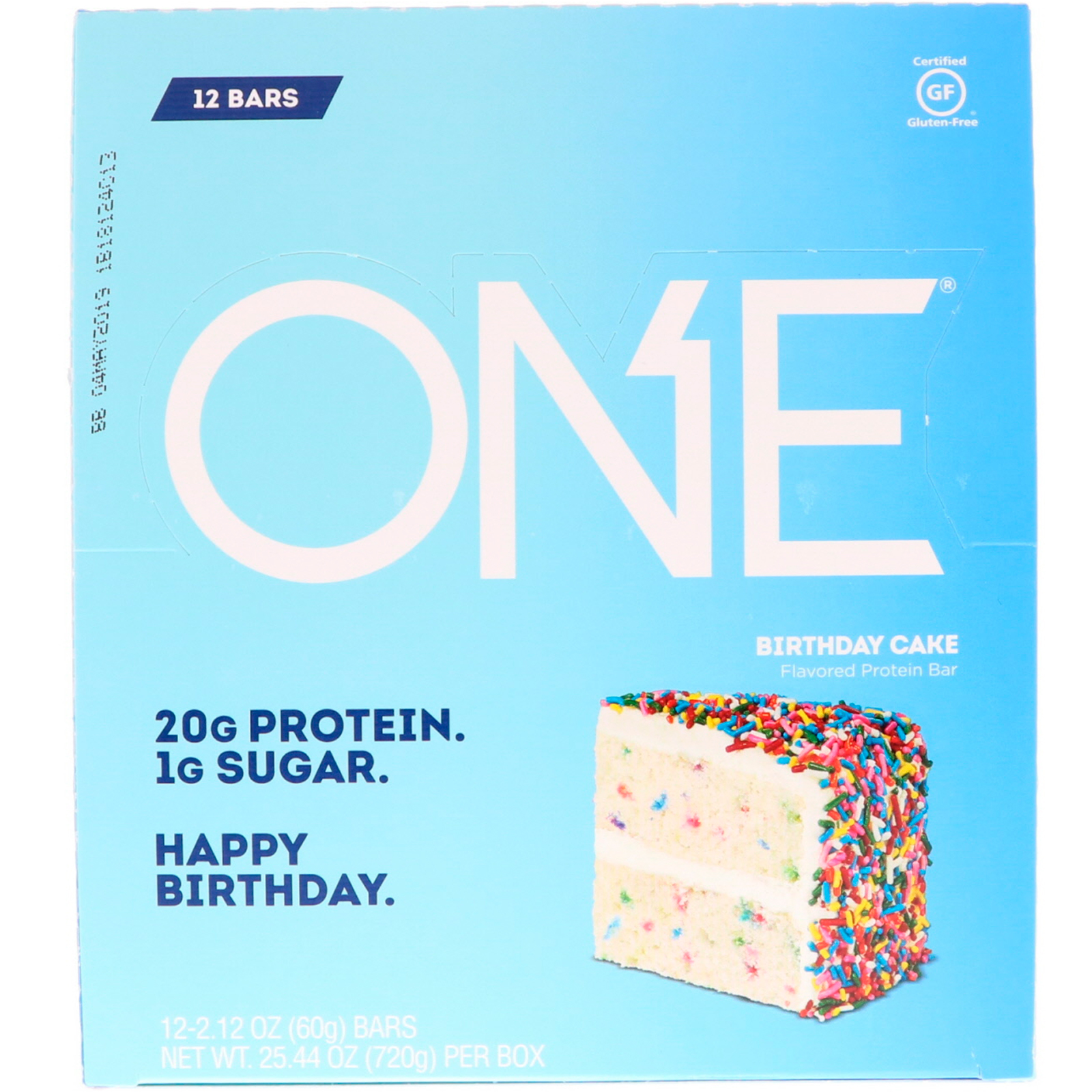 Oh Yeah One Bar Birthday Cake 12 Bars 212 Oz 60 G Each