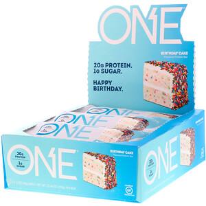 О Е, ONE Bar, Birthday Cake, 12 Bars, 2.12 oz (60 g) Each отзывы покупателей