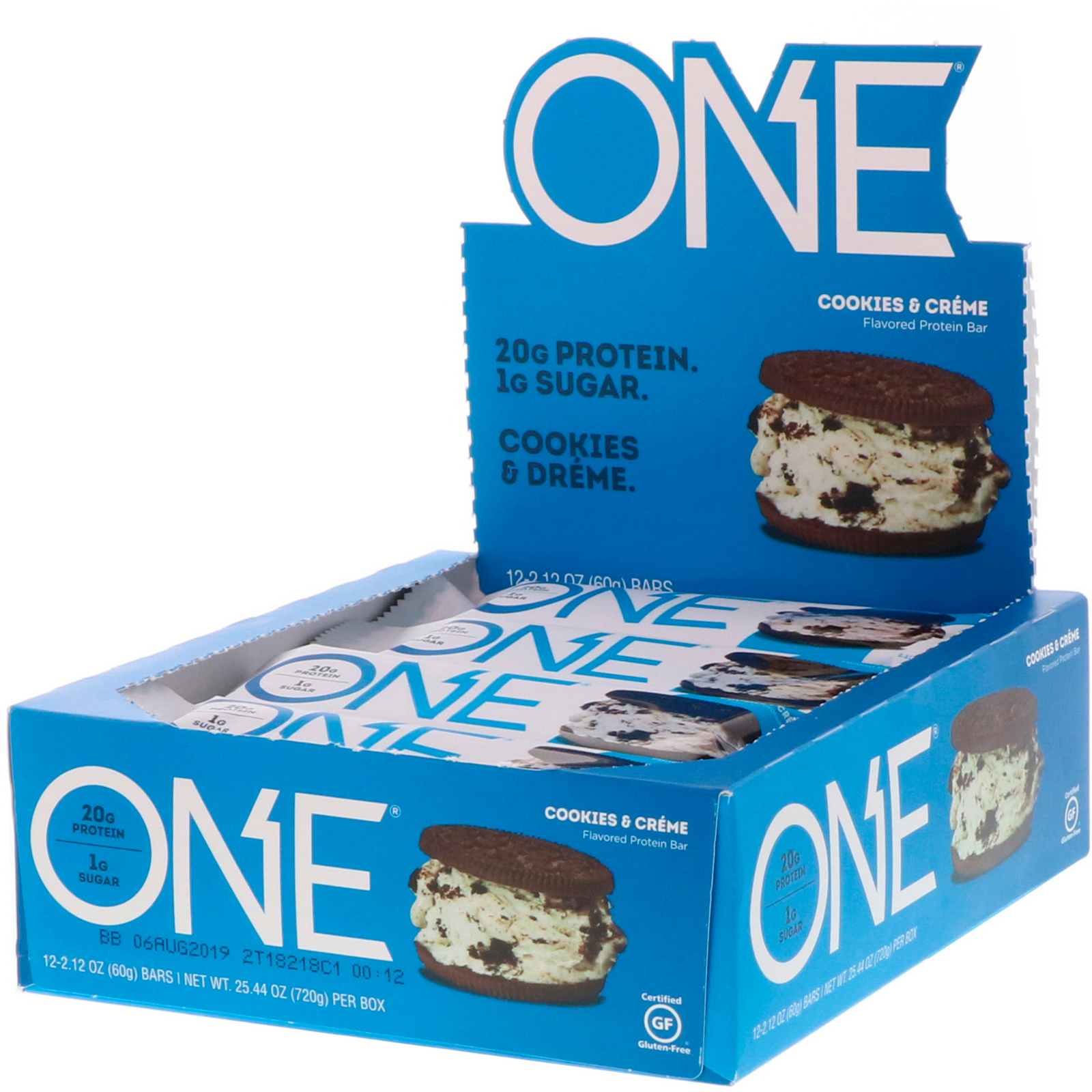 One Brands Bar Cookies Cream 12 Bars 212 Oz