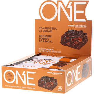 Oh Yeah!, One Bar, Chocolate Brownie, 12 Bars, 2.12 oz (60 g) Each