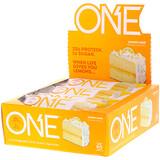 Отзывы о One Brands, Один батончик, Лимонный пирог, 12 батончиков, 2,12 унц. (60 г) каждый