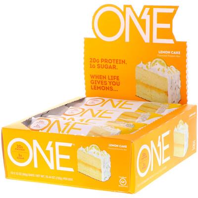 One Bar, батончики со вкусом лимонного пирог, 12 батончиков, весом 60 г (2,12 унции) каждый батончики с высоким содержанием белка хрустящий брауни 10батончиков 60г 2 1унции каждый