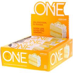One Brands, ワンバー、レモンケーキ、12本、各2.12 oz (60 g)