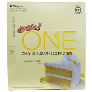 Oh Yeah!, One Bar, Lemon Cake Flavor, 12 Bars, 2.12 oz (60 g) Each