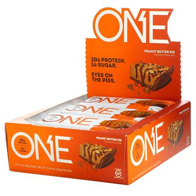 Купить One Brands ONE Bar, батончики со вкусом пирога с арахисовой пастой, 12батончиков, 60г (2, 12унции) каждый