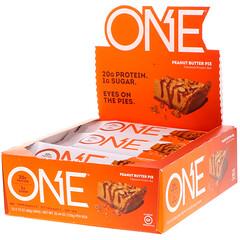 One Brands, One Bar, Peanut Butter Pie Flavor, 12 Bars, 2.12 oz (60 g) Each