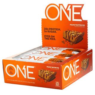 One Brands, ONE Bar, Peanut Butter Pie, 12 Bars, 2.12 oz (60 g) Each