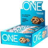 Отзывы о One Brands, One Bar, тесто печенья с шоколадной крошкой, 12 баточников, 2,12 унц. (60 г) каждый