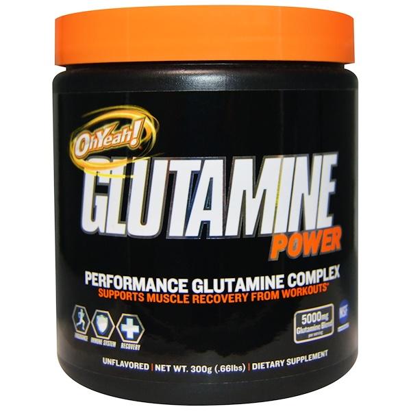 Oh Yeah!, グルタミンパワー、 パフォーマンスグルタミンコンプレックス、 無香、 .66 lbs (300 g) (Discontinued Item)