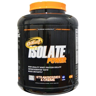Oh Yeah!, OhYeah! Isolate Power Strawberries & Creme, 4 lbs (1814 g)