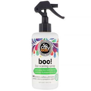 SoCozy, Kids, Boo!, Spray repelente de piojos para niños, 237ml (8oz.líq.)