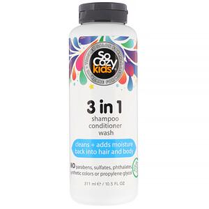 SoCozy, Kids, 3 in 1 Shampoo Conditioner Wash, 10.5 fl oz (311 ml) отзывы