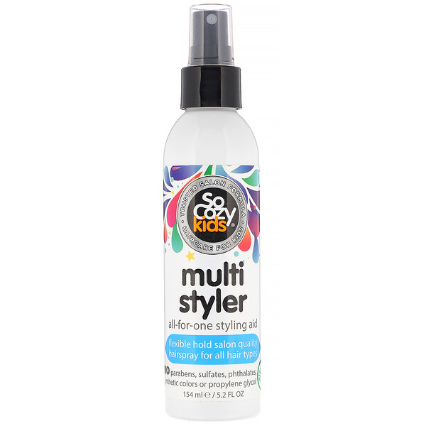 SoCozy, Kids, Multi Styler, All-for-One Styling Aid, All Hair Types, 5.2 fl oz (154 ml)