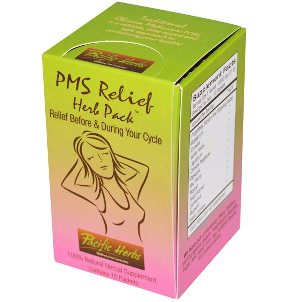 Pacific Herbs, PMS Relief Herb Pack, 10 Packets (Discontinued Item)