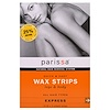Parissa, Natural Hair Removal System, Wax Strips, Legs & Body, 16 (8 Two-Sided) Strips