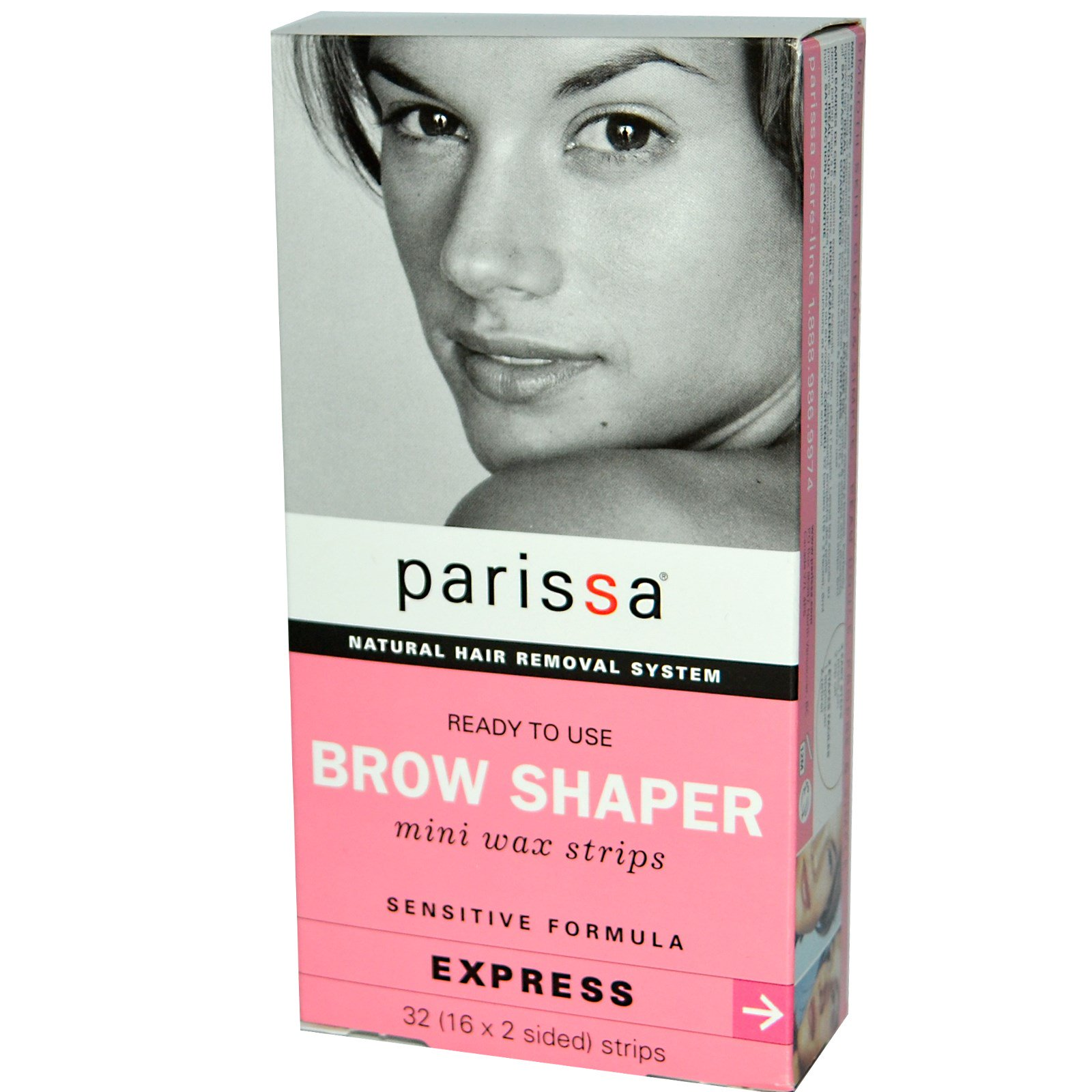 Parissa Natural Hair Removal System Brow Shaper Mini Wax Strips