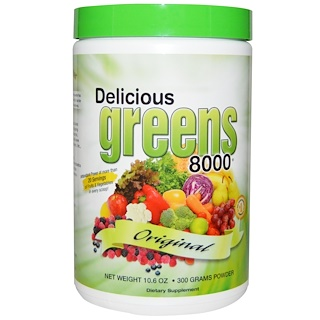 Greens World, Delicious Greens 8000, Original, 10.6 oz (300 g) Powder
