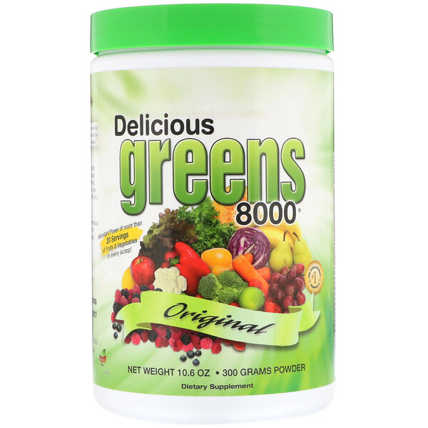 Delicious Greens 8000, Original, 10.6 oz (300 g) Powder