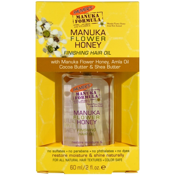 Palmer's, Manuka Flower Honey, Finishing Hair Oil, 2 fl oz (60 ml) (Discontinued Item)