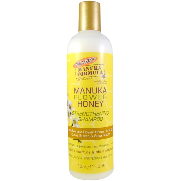 Palmer's, Manuka Formula, Manuka Flower Honey Strengthening Shampoo, 12 fl oz (350 ml) (Discontinued Item)