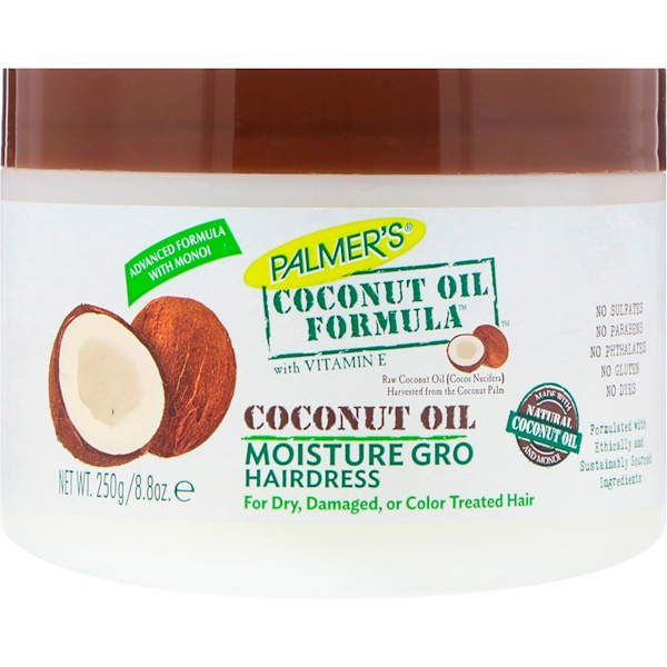 Palmer's, Coconut Oil Formula, With Vitamin E, Moisture Gro Hairdress, 8.8 oz (250 g) (Discontinued Item)