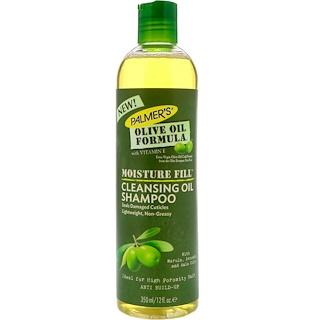 Palmer's, オリーブオイル処方、モイスチャーフィル、クレンジングオイルシャンプー、12 fl oz (350 ml)
