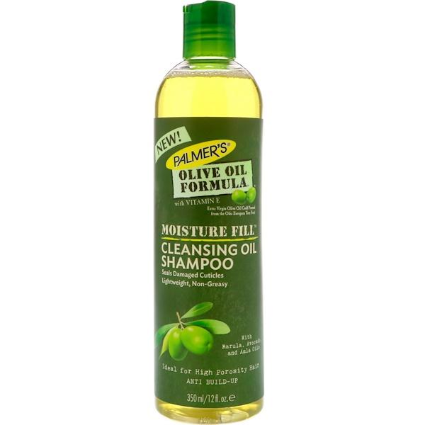 Palmer's, Формула с оливковым маслом, Наполнение влагой, Очищающий шампунь с маслом, 12 ж. унц.(350 мл) (Discontinued Item)